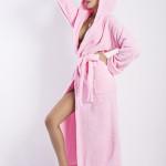 Dámský župan Diana long pink