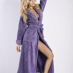 Dámský župan Eliza long violet