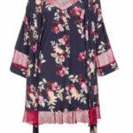 Vamp – Dámský set květované košilky s županem