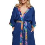 Luxusní bavlněný župan Arabela modrý