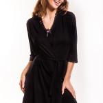 Dámský župan Hamana Virginia gown black