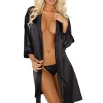 Dámský župan Alexandra dressing gown black