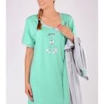 Dámský župan s mateřskou košilí Králik 5720 – Vienetta