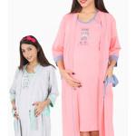 Dámský župan s mateřskou košilí Méďa s dudlíkem