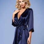 Župan Satinia robe dark blue – Obsessive